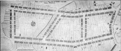 Wiederaufbauplan von 1757