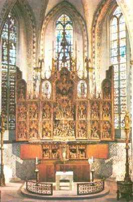 Der Bordesholmer Altar im Dom zu Schleswig.